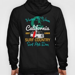 Hunting The Waves California Surfing T-shirt Hoody