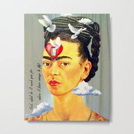 Frida Kahlo Fly Metal Print