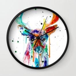 Deer in Retrograde Wall Clock