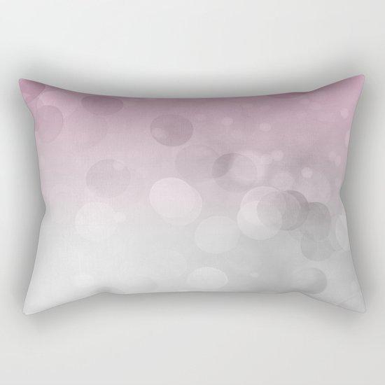 Pink light abstract bokeh design Rectangular Pillow