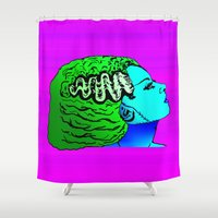 bride Shower Curtains featuring Benumbed Bride by Kramcox