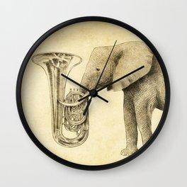 Tuba Wall Clock
