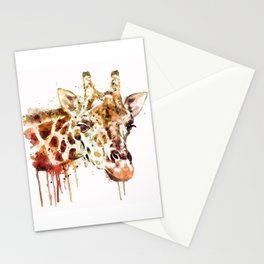 Giraffe Head Stationery Cards