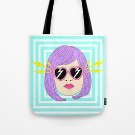 Pink Glasses Hypnotized Girl Tote Bag