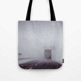 through the snow Tote Bag