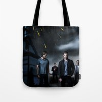 supernatural Tote Bags featuring Supernatural by Clara J Aira
