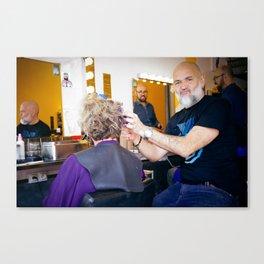 Parisian Mugshots - The barbershop (Gueules de Parisiens) Canvas Print