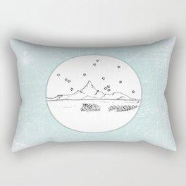 Bora Bora Island, French Polynesia Skyline Illustration Drawing Rectangular Pillow