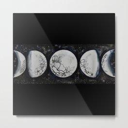 Flowers in the Moon Metal Print