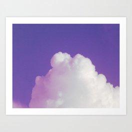 Big Fluffy Cloud Against a Purple Sky, Beautiful Cloud and Beautiful Sky Art Print