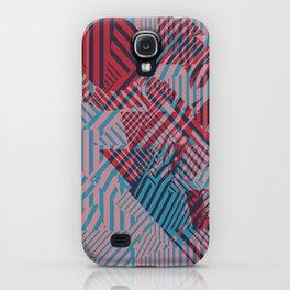 Dazzle Camo #02 - Blue & Red iPhone Case
