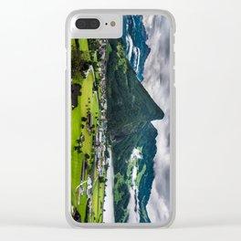 Schwyz Valley And Lauerzersee - Switzerland Clear iPhone Case