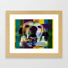 Mastiff Smile Framed Art Print