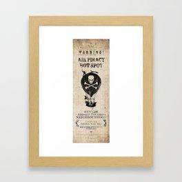 Air Pirate Hot Spot Framed Art Print