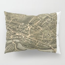 Vintage Pictorial Map of Norwich CT (1876) Pillow Sham
