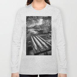 Lake Padarn Bench Long Sleeve T-shirt