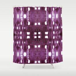 Shibori City Plum Wine Shower Curtain