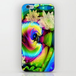 Floating Waterlilies in an Abstract iPhone Skin