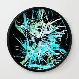 Aqua Implosion Wall Clock