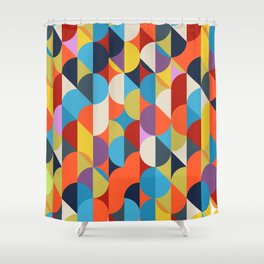 Simple Circle Pattern. Shower Curtain