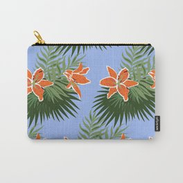 Orange Tropical Carry-All Pouch