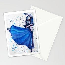 Blue Dancer Stationery Cards