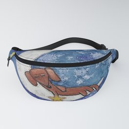Dachshund on the Moon Fanny Pack