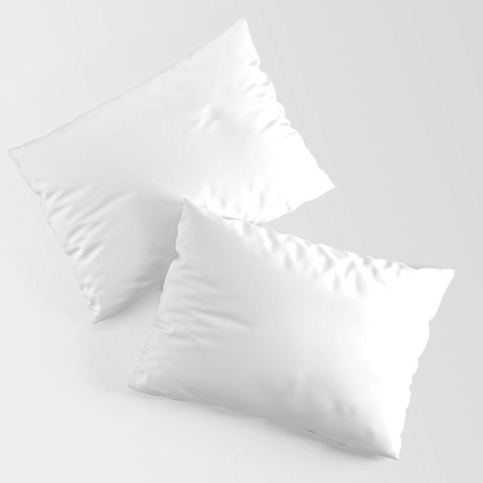 White Minimalist Solid Color Block Spring Summer Kissenbezug