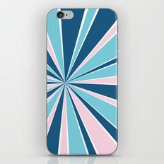 Starburst Pink and Blue iPhone & iPod Skin