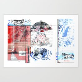 Sunning Art Print