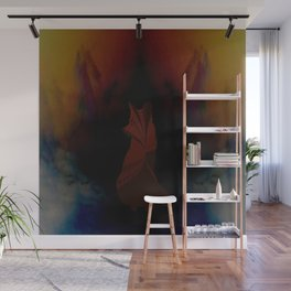 Clouded Fox Wall Mural