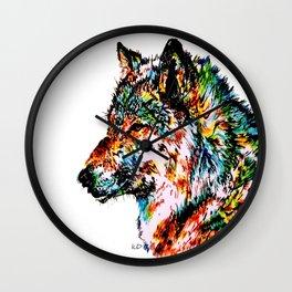 'Grey' Wolf Wall Clock
