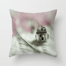 Camera Charm Throw Pillow