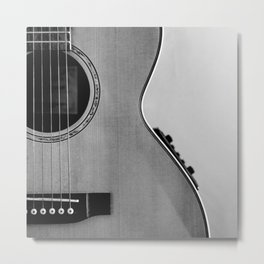 acoustic electric guitar music aesthetic close up elegant fine art photography  Metal Print