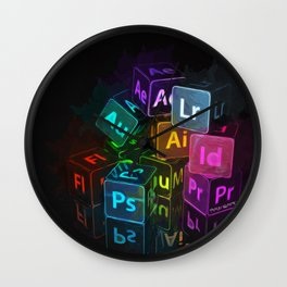 adobe cubes Wall Clock