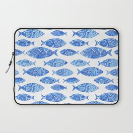 Folk watercolor fish pattern Laptop Sleeve