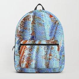 Caryatid in Blue Backpack