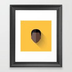 Finn Flat Design Framed Art Print