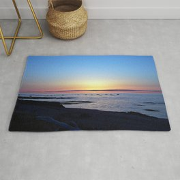 Sun Sets up the River, Across the Sea Rug
