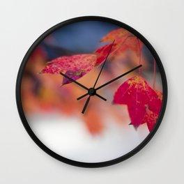 Anthocyanin of Autumn I Wall Clock