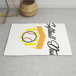 Softball And Dad For Men - Fathers Day Gifts Rug