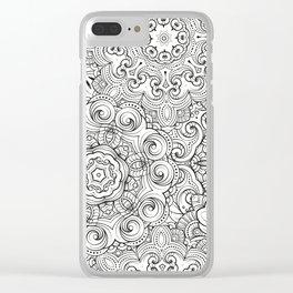 Mandalas pattern Clear iPhone Case