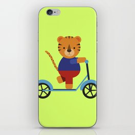 Tiger on Scooter iPhone Skin
