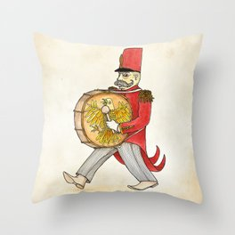 López, bass drum Throw Pillow