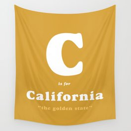 C is for California Wall Tapestry