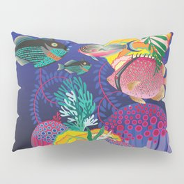 Exotic Sea Life Pillow Sham