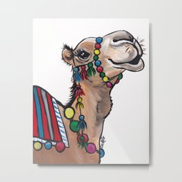 Cute Camel Art, Camel with Tassels Metal Print