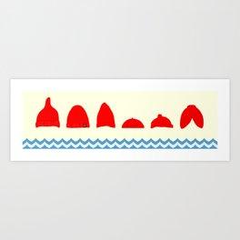 The Life Aquatic Beanies Art Print