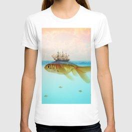 Goldfish Tall Ship T-shirt