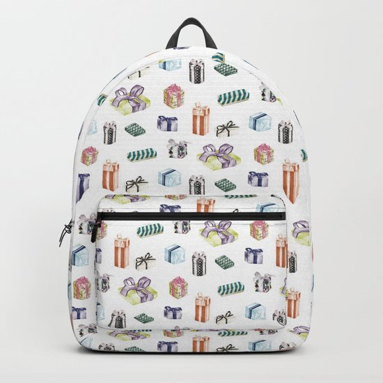 Birthday Presents Colour by Chrissy Curtin Backpack